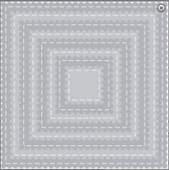square scallop stitched set