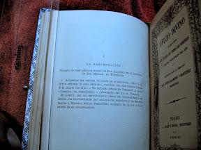 Descripción del grabado por la parte de atrás.
