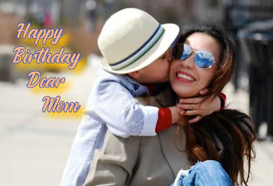 Kid kissing his mother, Happy Birthday quotes for Mother.
