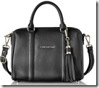 Lancaster Paris Grained Leather Top Handle Bag with Long Strap