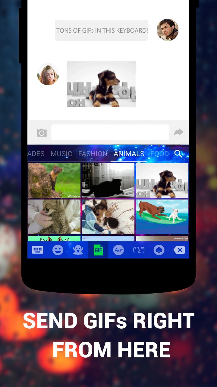 Emoji Keyboard Cute Emoticons - Theme, GIF, Emoji Screenshot 4