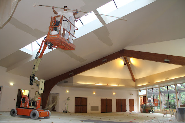 Removing the pews made the job a whole lot easier!