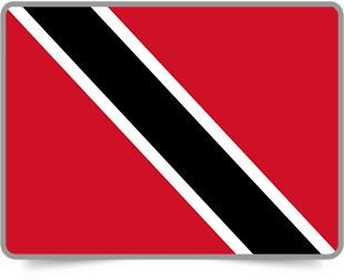 Trinidadian or Tobagonian framed flag icons with box shadow