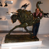OIC - ENTSIMAGES.COM - Mark Coreth with his running Ostrich sculpture at the Masterpiece London 2015 - preview in London 24th June 2015  Photo Mobis Photos/OIC 0203 174 1069