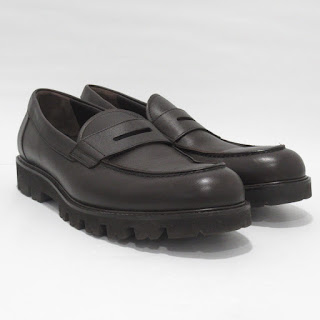 Vince. Brown Leather Loafers