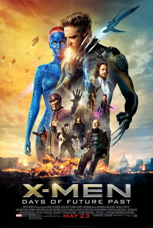 Poster Of X-Men: Days of Future Past (2014) Full Movie Hindi Dubbed Free Download Watch Online At Alldownloads4u.Com