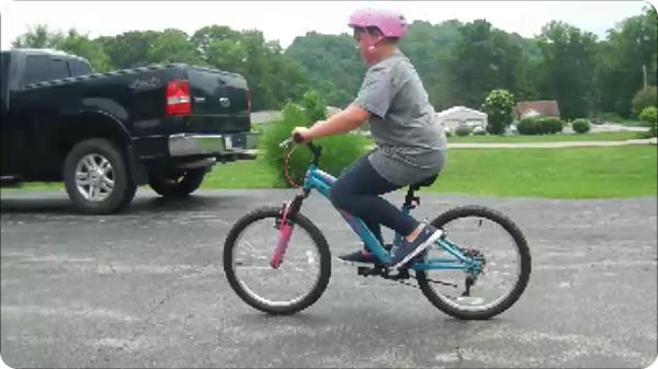 Cassidy on Bike 2