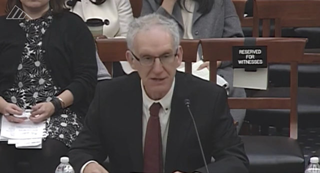 """We think SRN could buy time for other (carbon-reduction) measures to be put in place,"" said Philip J. Rasch, chief climate scientist for the Pacific Northwest National Laboratory in Richland, Washington told the House Committee on Science, Space and Technology on 8 November 2017. Photo: House Committee on Science, Space and Technology"