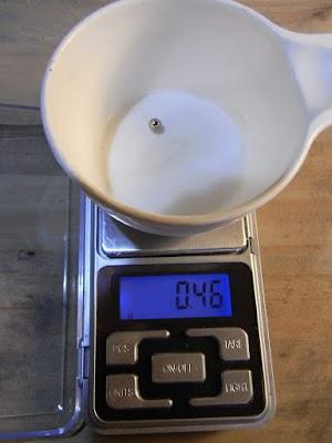ベアリング(3/16inch)の重量