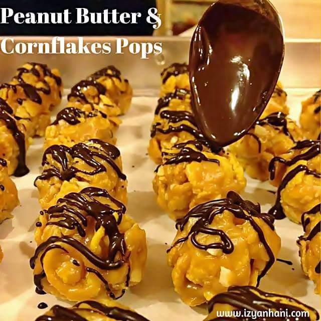 RESIPI KUIH RAYA PILIHAN 2016: Peanut Butter & Cornflakes Pops