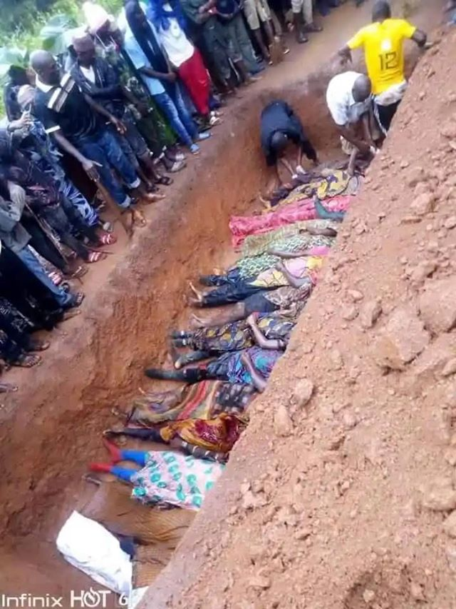 THIS AFTERNOON: 16 bodies were given a mass burial at Kadunna