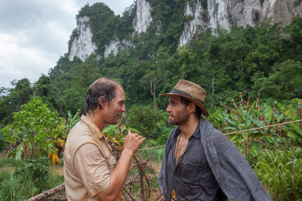 Matthew McConaughey and Edgar Ramirez in GOLD. (Photo by Patrick Brown / courtesy of TWC-Dimension).