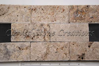 "Tuscany Scabas (Scabos) Splitface Travertine Mosaic 12"" x 12"" x 10mm"