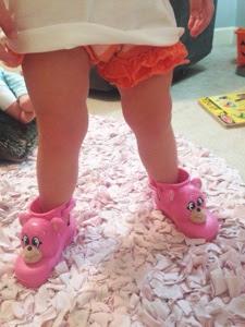 Mini Melissa by Jeremy Scott monkey boots