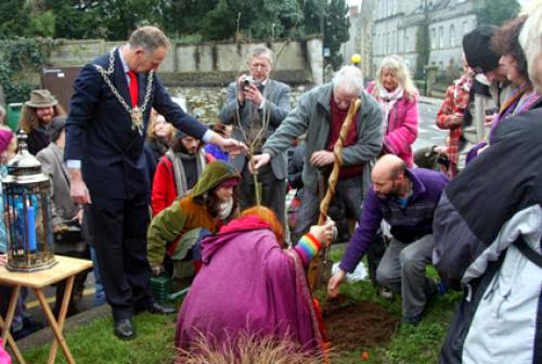 Pagan Eye Glastonbury Thorn Tree Planted For Peace