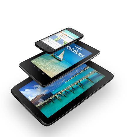 Nexus4、Nexus7、Nexus10