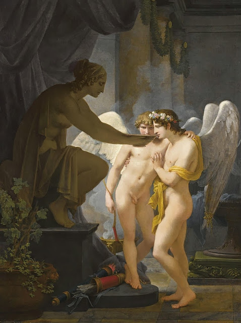 Jean-Baptiste Regnault - Cupid and Hymen Drink from the Cup of Friendship