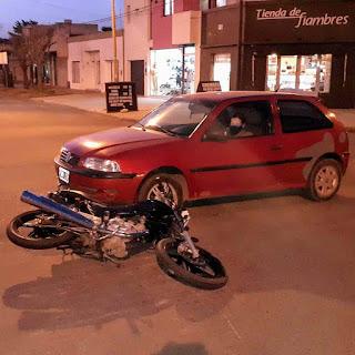Arenales y 9 de Julio choque Chacabuco