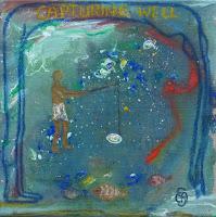 'capturing well'- Sommer, Acryl und Ölpastell, 20x20
