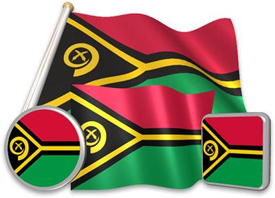 Vanuatuan flag animated gif collection