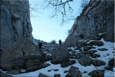 Recorriendo los últimos metros antes de alcanzar el Paso del Caballo