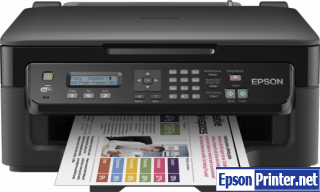 How to reset flashing lights for Epson WorkForce WF-2510 printer