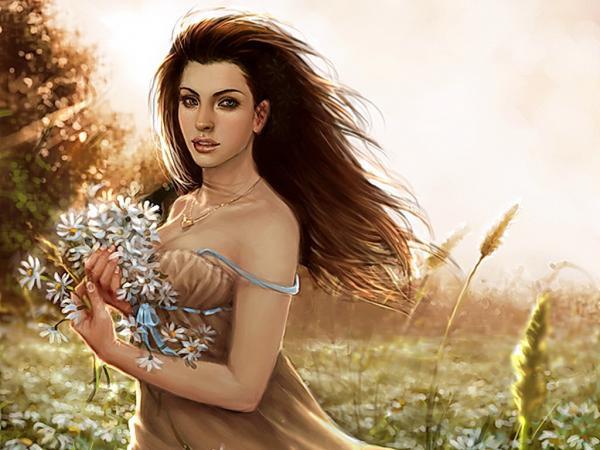 A Fantasy Girl And Nature, Magic Beauties 2