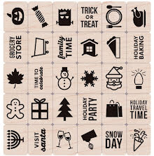 Hero Arts Mounted Rubber Stamp Set 3X3 - Holiday Planner Icons UTGÅENDE