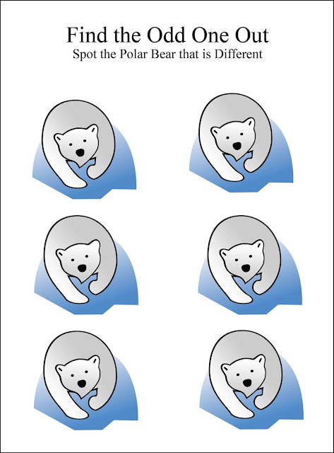 Find the odd one out polar bear