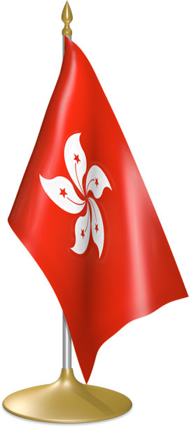 Hong Kong table flags - desk flags