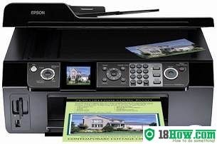 How to reset flashing lights for Epson CX9500F printer