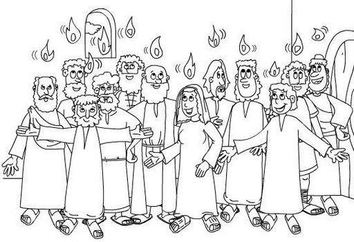 Pinto Dibujos: Pentecostés para pintar y colorear