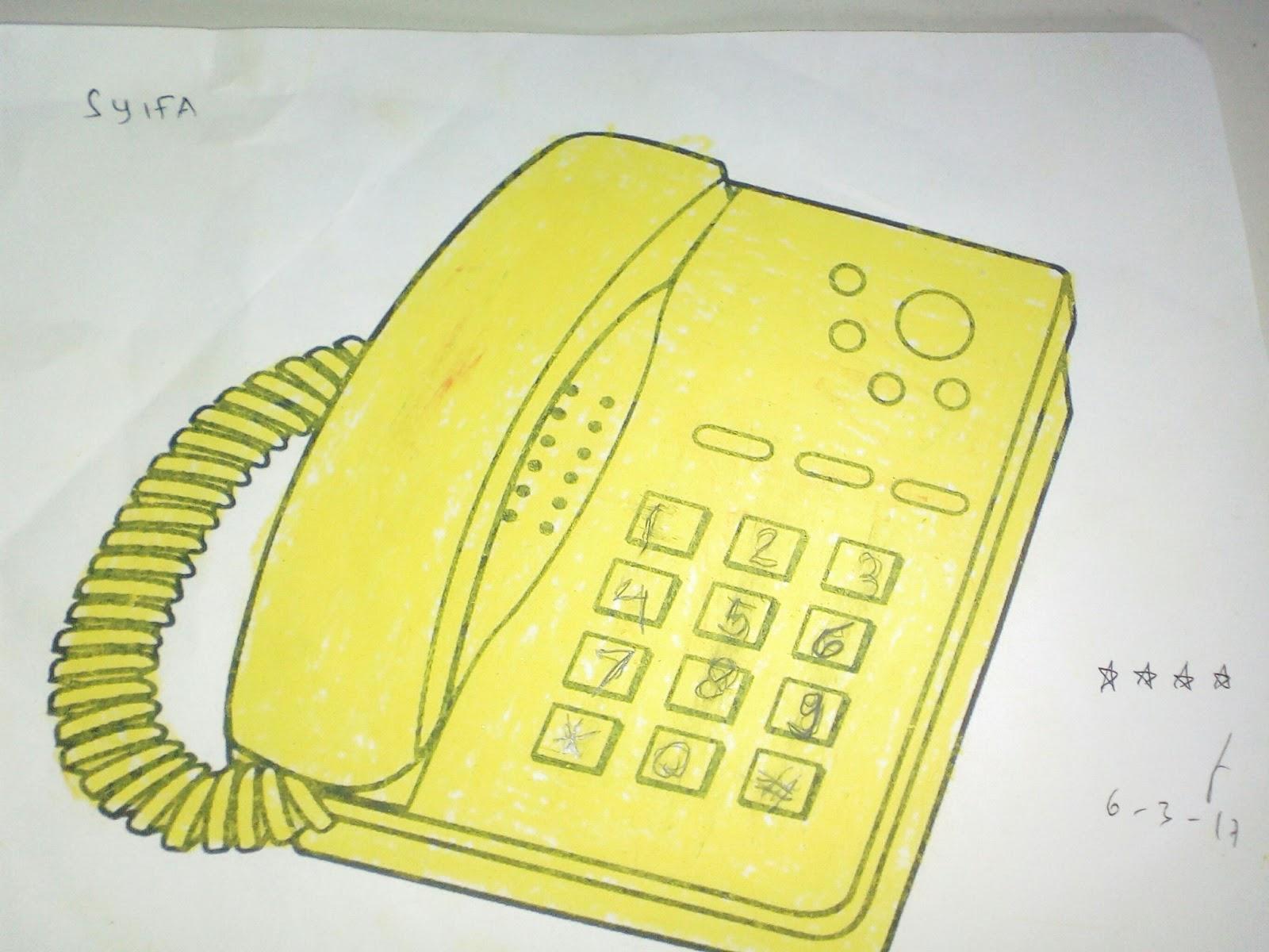 Mewarnai Gambar Telepon