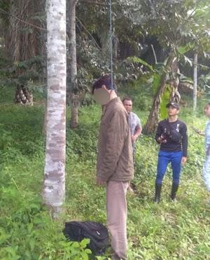 Seorang Pria Ditemukan Tewas Gantung Diri di Pohon Durian