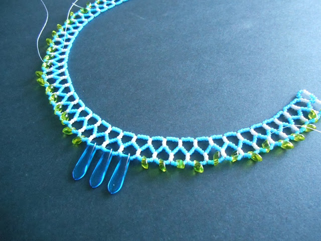 Mini Collar in Progress