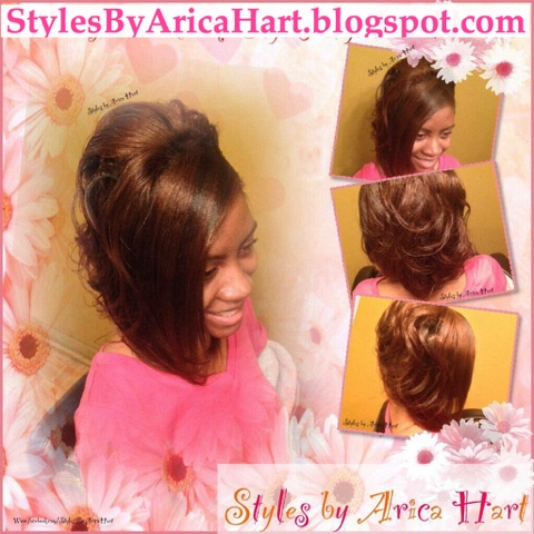 styles by Arica Hart, wrap hairstyles