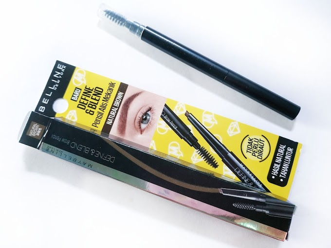 [Review] Maybelline Define and Blend Natural Brown, Pensil Alis Mekanik dari Maybelline