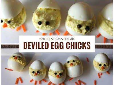 Pinterest Pass or Fail: Deviled Egg Chicks