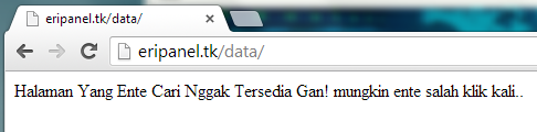 Halaman 404 not found