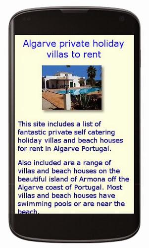 Algarve villas for rent mobile site