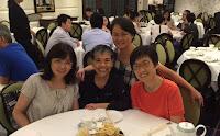 2015年8月14日,炎炎夏暑,女子組在中環怡翠軒餐聚