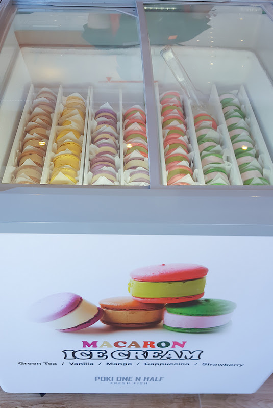 photo of the Brick ice cream macaron sandwiches display case