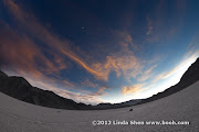 Playing with the fisheye lens at the Racetrack Playa, Death Valley National Park, California