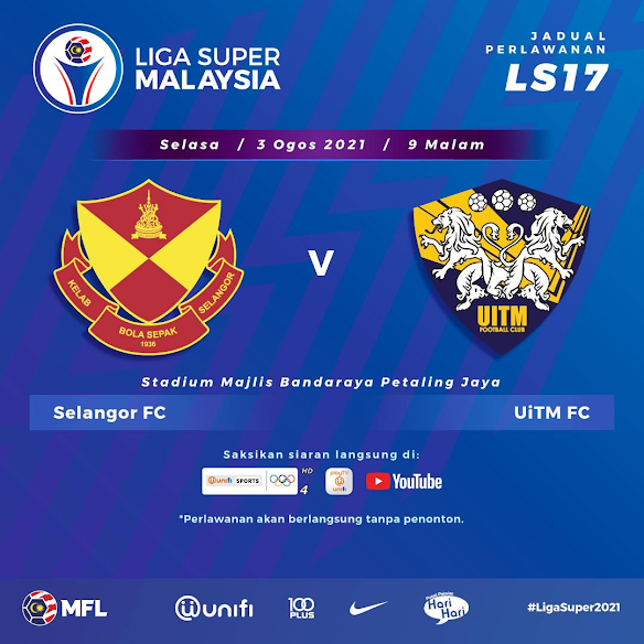 Live Streaming Selangor vs Uitm 3.8.2021