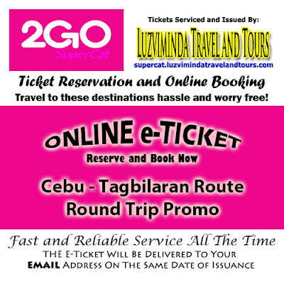 2Go SuperCat Cebu-Tagbilaran Round Trip Promo Ticket Reservation and Online Booking