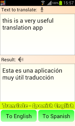Translate - Spanish English 4.1.9 screenshots 1