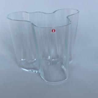 Alvar Aalto 160mm Clear Vase
