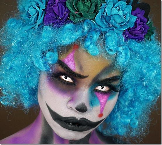 maquillaje de payaso horripilante (2)