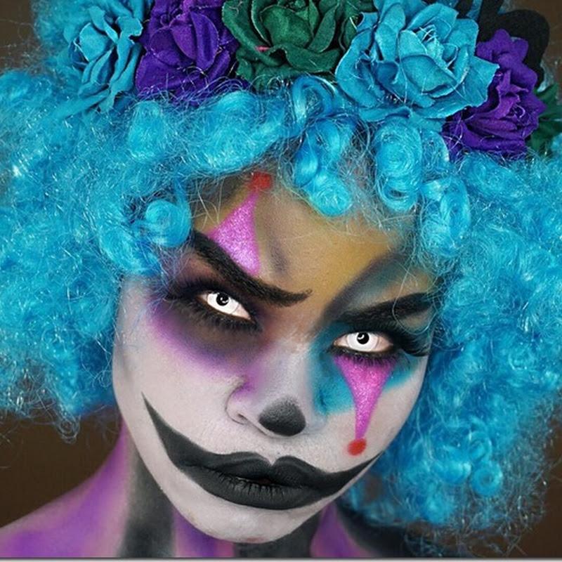 maquillaje de payaso horripilante para halloween