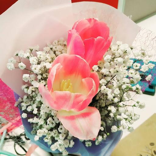 Birthday bouquet from best friend
